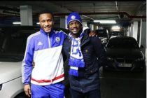 Peter Okoye Visits Mikel In London (PHOTOS)